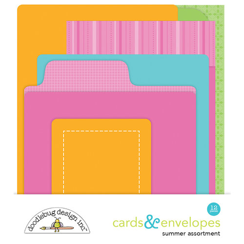 Doodlebug Design - Sweet Summer Collection - Create-A-Card - Cards and Envelopes - Summer Assortment