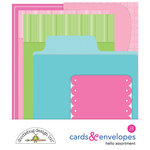 Doodlebug Design - Hello Collection - Create-A-Card - Cards and Envelopes - Hello Assortment