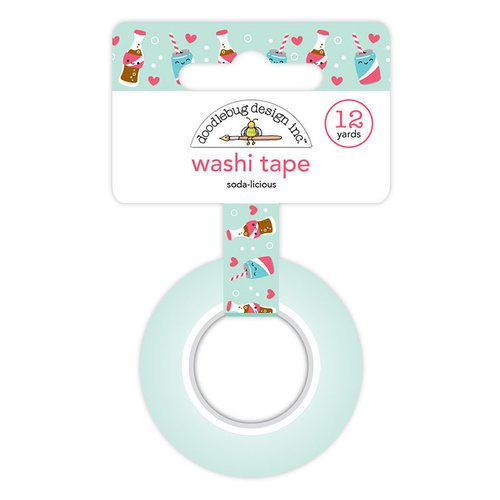 Doodlebug Design - So Punny Collection - Washi Tape - Soda-licious