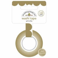 Doodlebug Design - Hello Collection - Washi Tape - Gold Scallop with Foil Accents