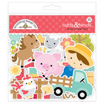 Doodlebug Design - Down on the Farm Collection - Odds and Ends - Die Cut Cardstock Pieces