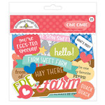 Doodlebug Design - Down on the Farm Collection - Chit Chat - Die Cut Cardstock Pieces