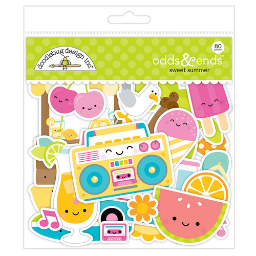 Doodlebug Design - Sweet Summer Collection - Odds and Ends - Die Cut Cardstock Pieces