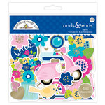 Doodlebug Design - Hello Collection - Odds and Ends - Die Cut Cardstock Pieces with Foil Accents