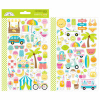 Doodlebug Design - Sweet Summer Collection - Cardstock Stickers - Mini Icons