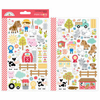Doodlebug Design - Down on the Farm Collection - Cardstock Stickers - Mini Icons