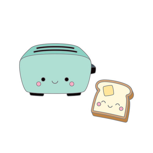 Doodlebug Design - So Punny Collection - Collectible Pins - Toaster Time