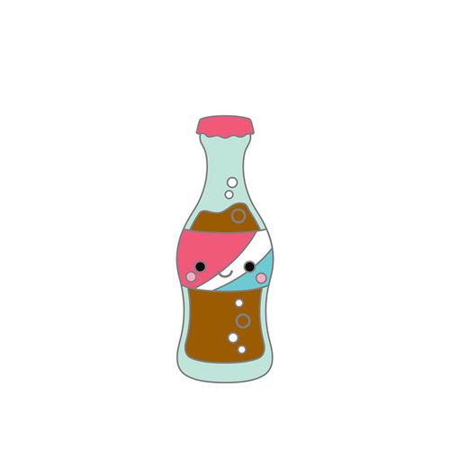 Doodlebug Design - So Punny Collection - Collectible Pins - Soda