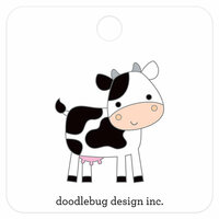 Doodlebug Design - Down on the Farm Collection - Collectible Pins - Cow