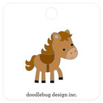 Doodlebug Design - Down on the Farm Collection - Collectible Pins - Horsey