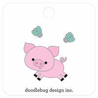 Doodlebug Design - Down on the Farm Collection - Collectible Pins - Piggy