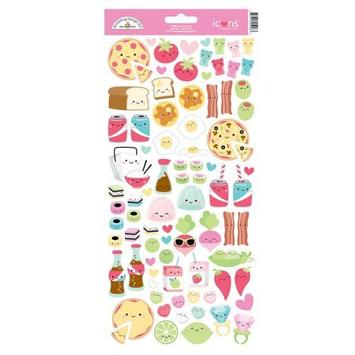 Doodlebug Design - So Punny Collection - Cardstock Stickers - Icons - Food