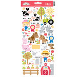 Doodlebug Design - Down on the Farm Collection - Cardstock Stickers - Icons