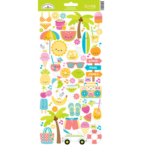 Doodlebug Design - Sweet Summer Collection - Cardstock Stickers - Icons