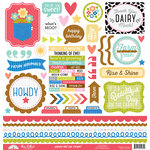 Doodlebug Design - Down on the Farm Collection - 12 x 12 Cardstock Stickers - This and That