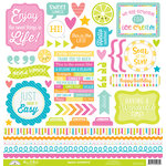 Doodlebug Design - Sweet Summer Collection - 12 x 12 Cardstock Stickers - This and That