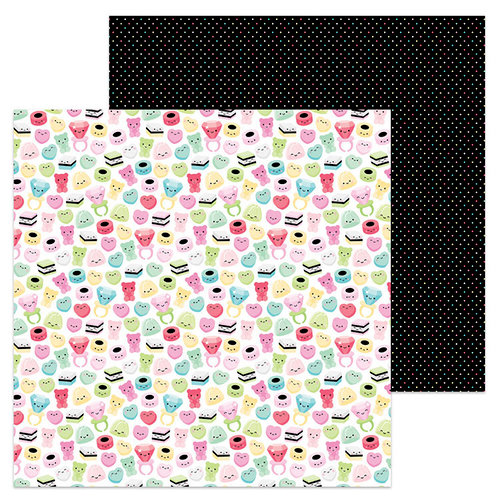 Doodlebug Design - So Punny Collection - 12 x 12 Double Sided Paper - Gummi a Kiss
