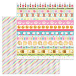 Doodlebug Design - So Punny Collection - 12 x 12 Double Sided Paper - Heart Deco