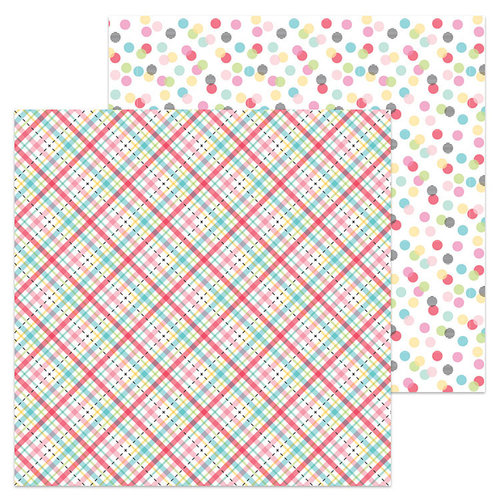 Doodlebug Design - So Punny Collection - 12 x 12 Double Sided Paper - Plaid About You