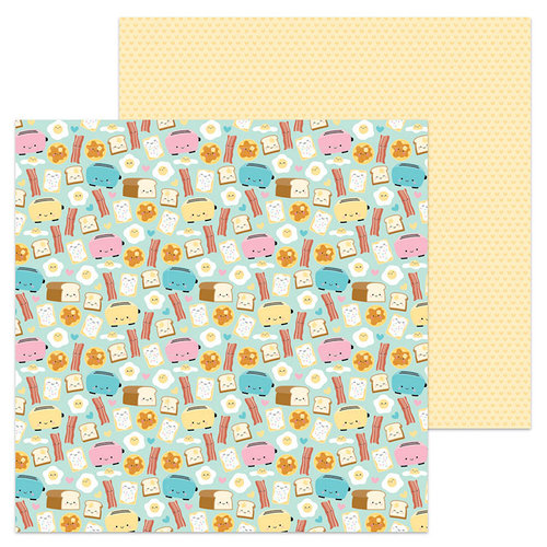 Doodlebug Design - So Punny Collection - 12 x 12 Double Sided Paper - Waffley Cute