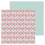 Doodlebug Design - So Punny Collection - 12 x 12 Double Sided Paper - Soda-lightful