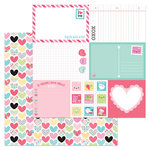 Doodlebug Design - So Punny Collection - 12 x 12 Double Sided Paper - Work of Heart