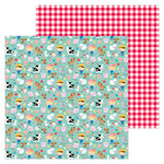 Doodlebug Design - Down on the Farm Collection - 12 x 12 Double Sided Paper - EIEIO