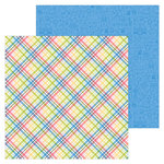 Doodlebug Design - Down on the Farm Collection - 12 x 12 Double Sided Paper - Farmer Flannel