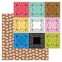 Doodlebug Design - Down on the Farm Collection - 12 x 12 Double Sided Paper - Hog Heaven