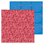 Doodlebug Design - Down on the Farm Collection - 12 x 12 Double Sided Paper - Red Bandana