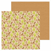 Doodlebug Design - Down on the Farm Collection - 12 x 12 Double Sided Paper - Horsin' Around