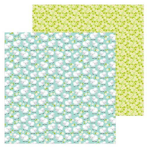 Doodlebug Design - Down on the Farm Collection - 12 x 12 Double Sided Paper - Counting Sheep