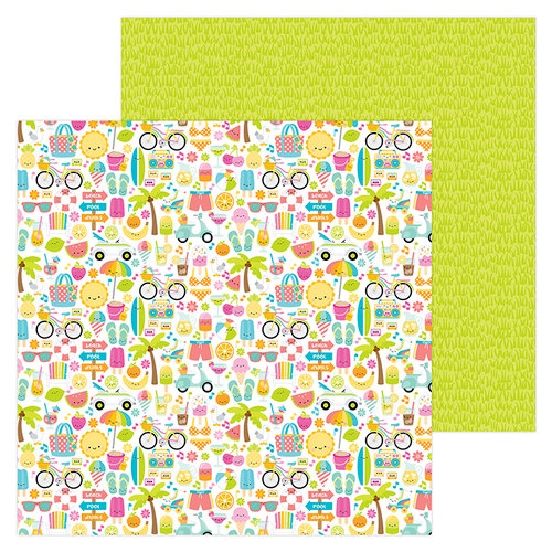 Doodlebug Design - Sweet Summer Collection - 12 x 12 Double Sided Paper - Summer Fun
