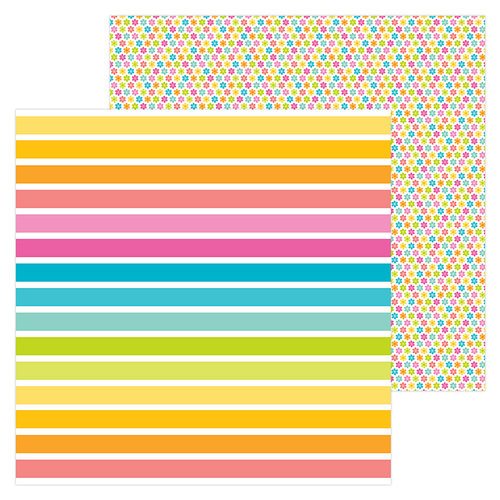 Doodlebug Design - Sweet Summer Collection - 12 x 12 Double Sided Paper - Cabana Stripe