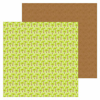 Doodlebug Design - Sweet Summer Collection - 12 x 12 Double Sided Paper - Coconut Grove