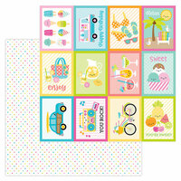 Doodlebug Design - Sweet Summer Collection - 12 x 12 Double Sided Paper - Summer Sprinkles