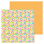 Doodlebug Design - Sweet Summer Collection - 12 x 12 Double Sided Paper - Fruit Cocktail
