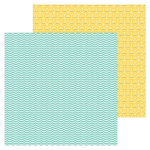 Doodlebug Design - Sweet Summer Collection - 12 x 12 Double Sided Paper - Catching a Wave