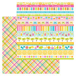 Doodlebug Design - Sweet Summer Collection - 12 x 12 Double Sided Paper - Punch Plaid