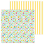 Doodlebug Design - Sweet Summer Collection - 12 x 12 Double Sided Paper - Happy Hour