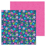 Doodlebug Design - Hello Collection - 12 x 12 Double Sided Paper - Beautiful Blooms
