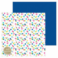 Doodlebug Design - Hello Collection - 12 x 12 Double Sided Paper with Foil Accents - Garden Party