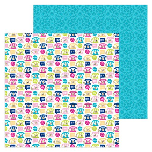 Doodlebug Design - Hello Collection - 12 x 12 Double Sided Paper - Hello There