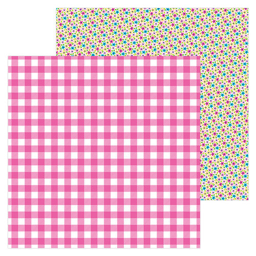 Doodlebug Design - Hello Collection - 12 x 12 Double Sided Paper - Tickled Pink