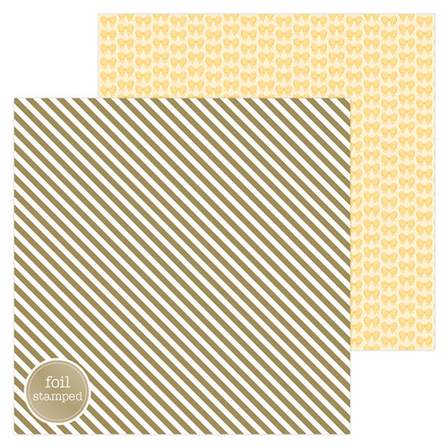Doodlebug Design - Hello Collection - 12 x 12 Double Sided Paper with Foil Accents - Good as Gold