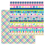 Doodlebug Design - Hello Collection - 12 x 12 Double Sided Paper - Poppy Plaid