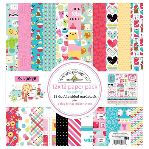 Doodlebug Design - So Punny Collection - 12 x 12 Paper Pack