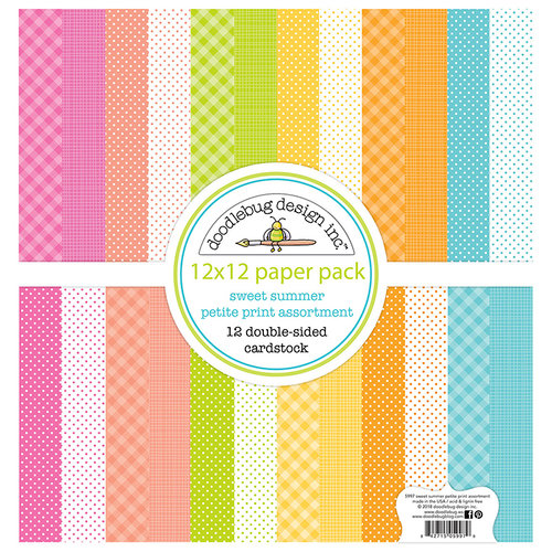 Doodlebug Design - Sweet Summer Collection - 12 x 12 Paper Pack - Petite Print