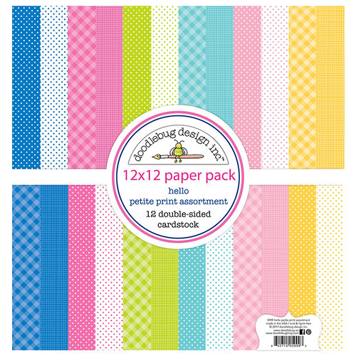Doodlebug Design - Hello Collection - 12 x 12 Paper Pack - Petite Print