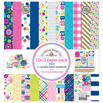 Doodlebug Design - Hello Collection - 12 x 12 Paper Pack with Foil Accents